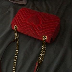 Gucci Bags - Selling red gucci marmont medium velvet
